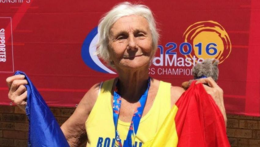 Foto: O româncă de 90 de ani a câștigat medalia de aur la un campionat mondial de atletism!