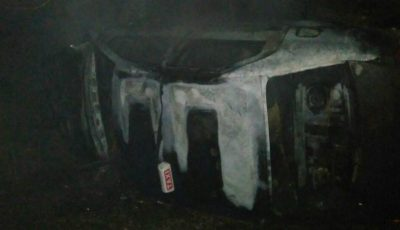 Accident cumplit la periferia oraşului Donduşeni. Un taximetrist și clientul său au decedat carbonizați după ce mașina le-a luat foc