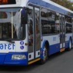 Foto: Circulația troleibuzelor este sistată pe străzile din sectorul Buiucani al Capitalei