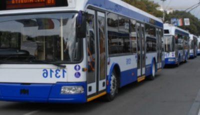 Circulația troleibuzelor este sistată pe străzile din sectorul Buiucani al Capitalei