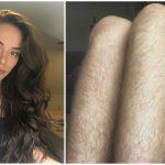 Foto: Bloggerița care nu s-a epilat timp de un an pentru a promova frumusețea naturală