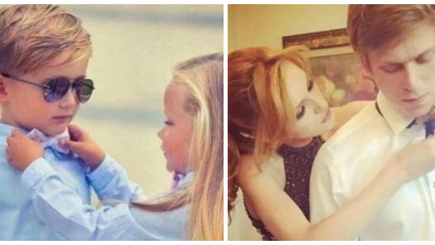 Fotografii emoționante! S-au cunoscut la vârsta de 4-5 ani și au format cupluri la maturitate