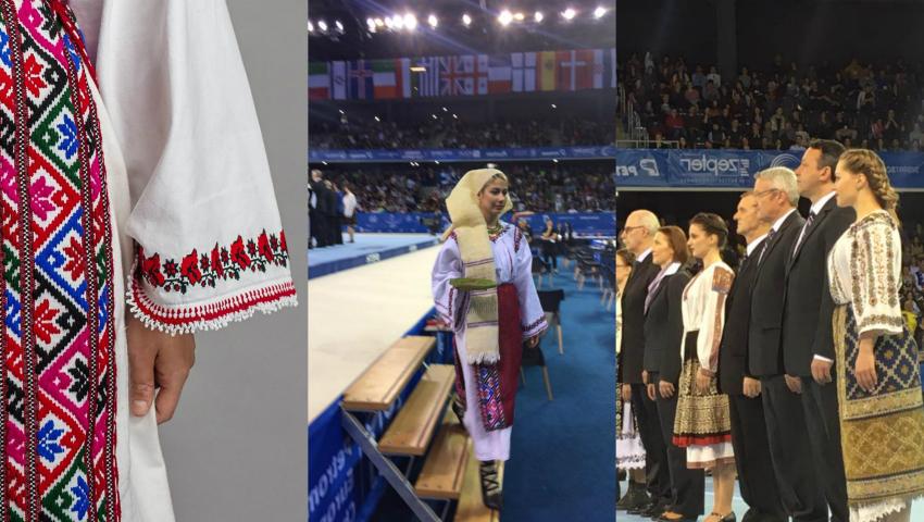 Foto: Ia, bluza tradițională românească, a fost la loc de cinste la Campionatele Europene de la Cluj-Napoca!
