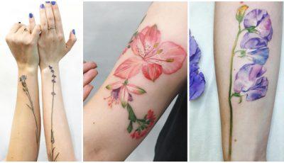 Tatuaje delicate, care parcă înfloresc pe corpul posesorilor!