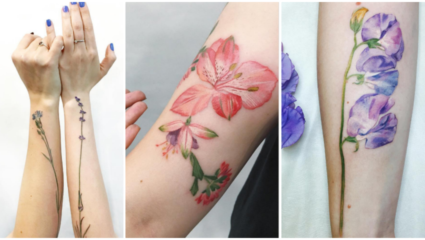 Foto: Tatuaje delicate, care parcă înfloresc pe corpul posesorilor!