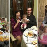 """Foto: Paștele în familia Veronicăi Ghimp: """"Bunicuța ne umple gențile cu toate bunătățile"""""""