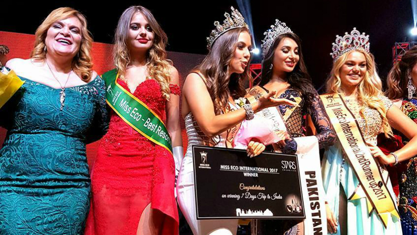 "Foto: Anastasia Fotachi s-a clasat pe locul 7 din 60 la ""Miss Eco Best Resort Wear 2017"""