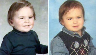 Poze! Copii care seamănă leit cu părinții lor, în copilărie
