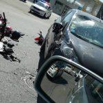 Foto: Accident grav în sectorul Botanica. O motociletă a fost făcută praf!