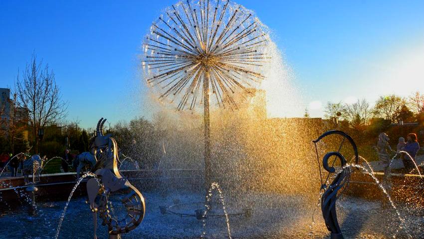 Foto: Un havuz de toată frumusețea a apărut în parcul dendrologic al Universității Tehnice din Moldova!
