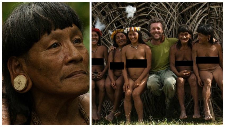 Foto: Un fotograf a surprins băștinașii din pădurile Amazonului. Pozele au șocat internauții