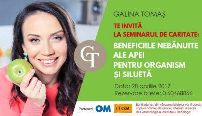 """Galina Tomaș te invită la seminarul de caritate: ,,Beneficiile nebănuite ale apei pentru organism şi siluetă""""!"""