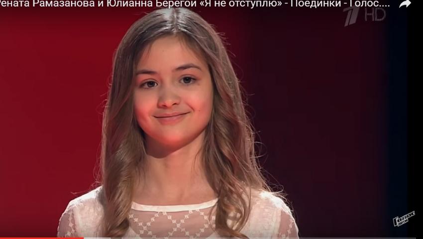 """Foto: Iuliana Beregoi s-a calificat în marea finală a show-ului ,,Golos deti"""" din Rusia!"""