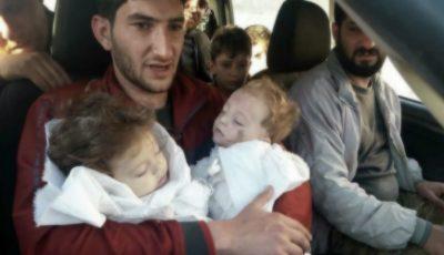 Imagini șocante! Copiii, victimele atacului cu gaz sarin din Siria