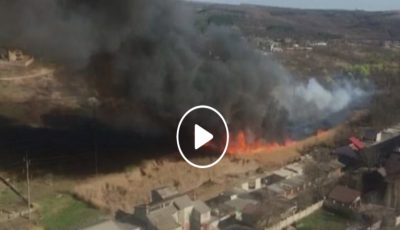 Video! Incendiu puternic la Ciocana! Fumul se vede din tot orașul