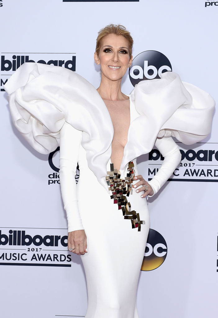 LAS VEGAS, NV - MAY 21: Recording artist Celine Dion poses in the press room during the 2017 Billboard Music Awards at T-Mobile Arena on May 21, 2017 in Las Vegas, Nevada. (Photo by David Becker/Getty Images)