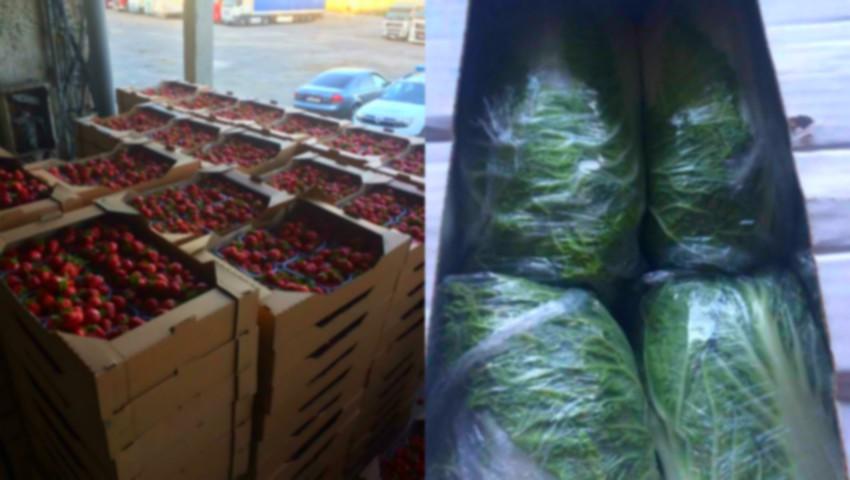 Foto: Tone de legume, confiscate de către vameşi! Află motivul