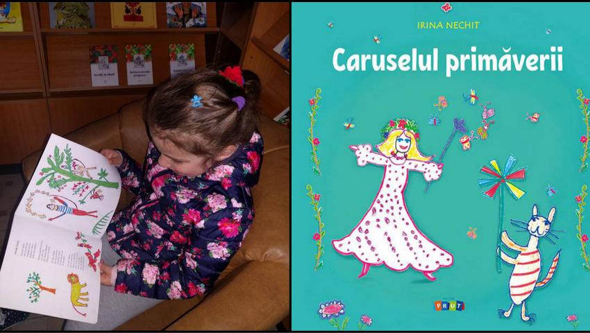 """Foto: O fetiță de 4 ani din Chișinău, ilustratoarea cărții ,,Caruselul primăverii"""" lansată la editura Prut Internațional!"""