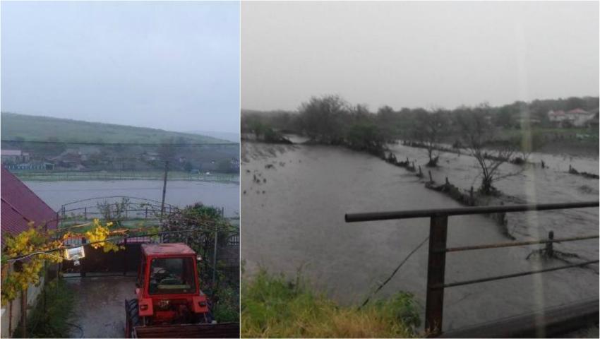 Foto: Video! Ploile torențiale fac ravagii în Moldova. Zeci de gospodării, inundate!