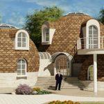 Foto: Un moldovean și-a construit o casă neobișnuită, în formă de cupolă!