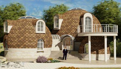 Un moldovean și-a construit o casă neobișnuită, în formă de cupolă!
