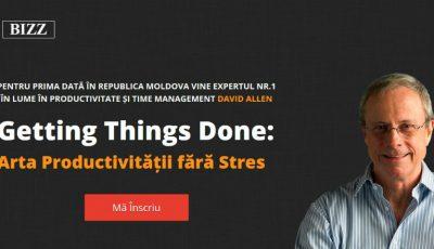 Expertul mondial Nr.1 din lume în productivitatea personală și organizațională, David Allen, vine în Moldova
