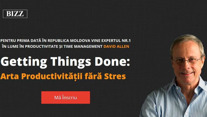 Foto: Expertul mondial Nr.1 din lume în productivitatea personală și organizațională, David Allen, vine în Moldova