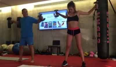 Xenia Deli face sport împreună cu soțul. Vezi cum arată un antrenament!