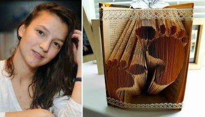 Rebeca Bularu transformă cărțile în opere de artă!