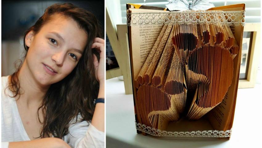 Foto: Rebeca Bularu transformă cărțile în opere de artă!