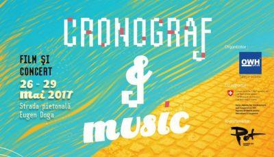 Iubitorii de film documentar și cei de muzică pot veni la CRONOGRAF&Music. Iată ce surprize vă așteaptă!