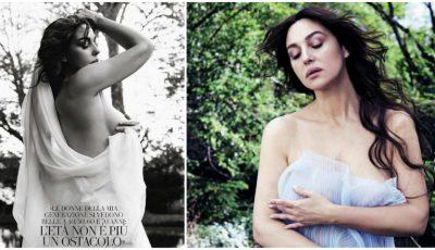 Monica Bellucci, senzuală într-un pictorial semi-nud!