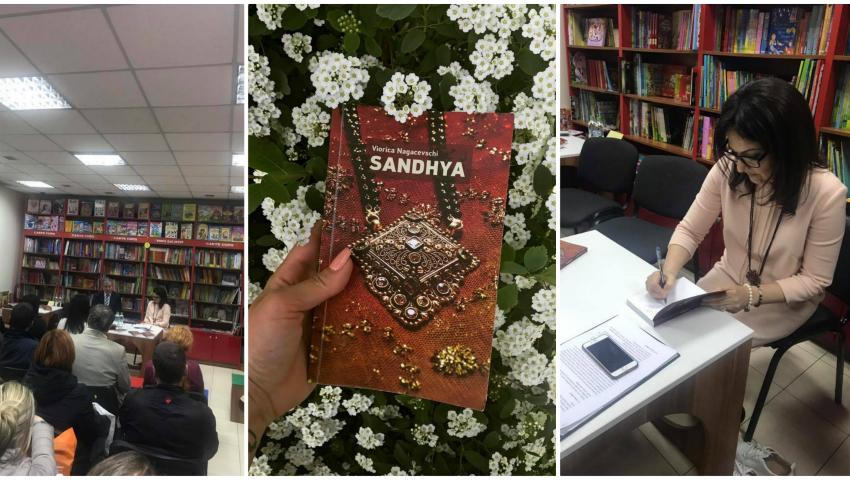 """Foto: """"Sandhya"""", un roman inspirat din călătoria Vioricăi Nagacevschi în India. Învață să fii liber și să accepți schimbările!"""