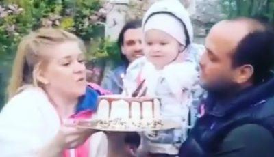 """Emoționant! Karizma și Valentin Coptilet îi cântă Dariei """"La mulți ani"""""""