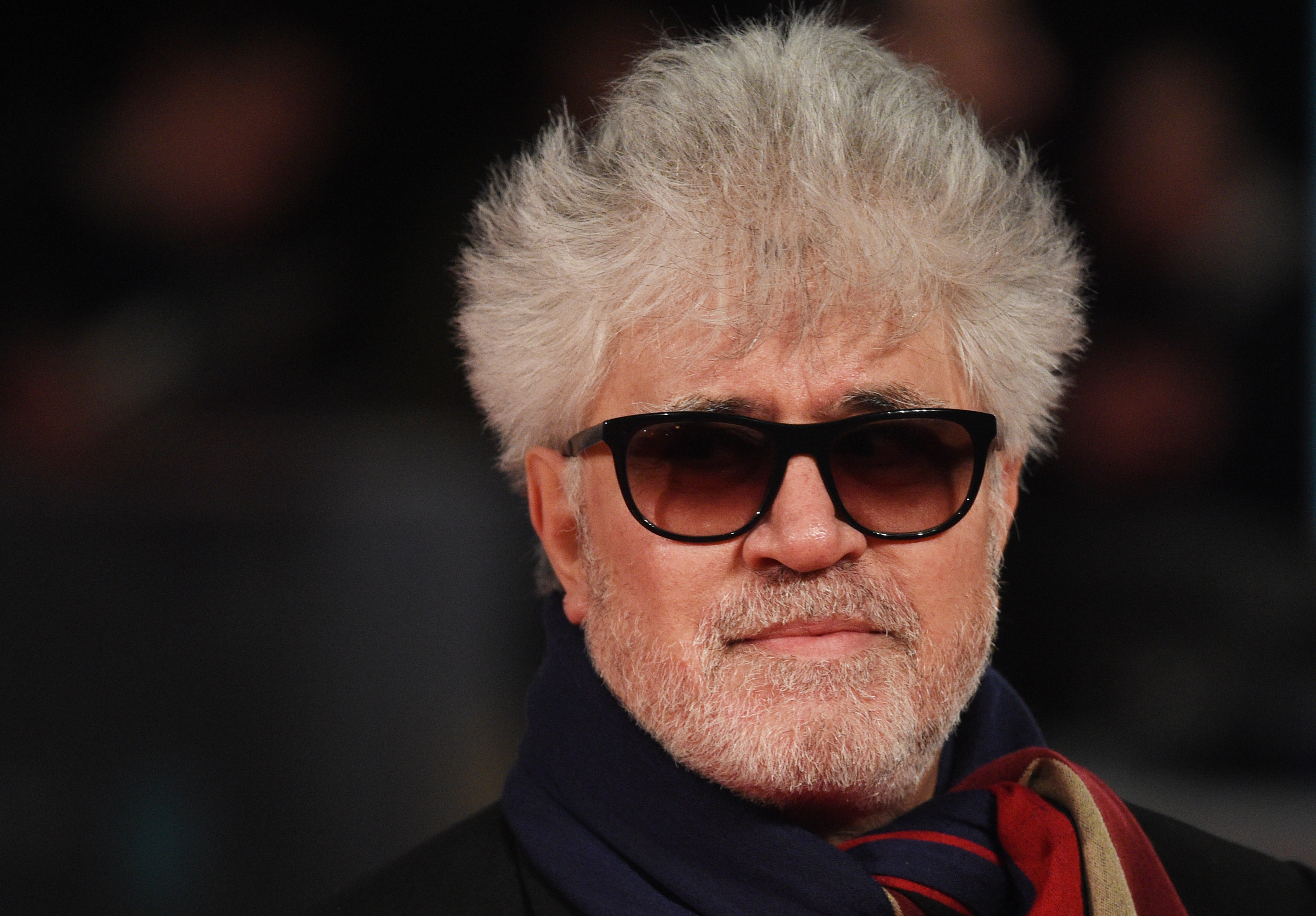 epa05789311 Spanish director Pedro Almodovar arrives for the 70th annual British Academy Film Awards at the Royal Albert Hall in London, Britain, 12 February 2017. The ceremony is hosted by the British Academy of Film and Television Arts (BAFTA). EPA/FACUNDO ARRIZABALAGA