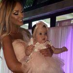 Foto: Ce ținute a purtat Bianca Drăgușanu la botezul fiicei