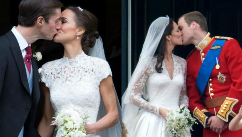 Foto: 5 asemănări izbitoare între nunţile surorilor Middleton