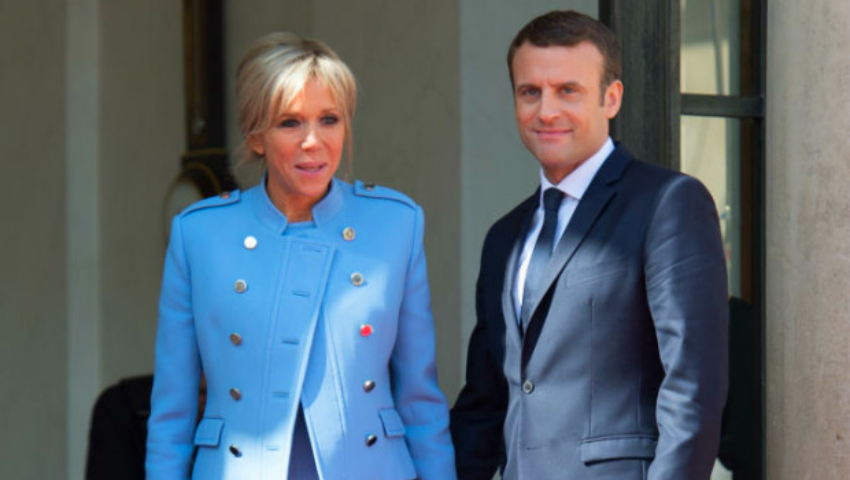 Foto: Președintele Franței și soția sa, criticați pentru ținutele purtate la ceremonia de învestire?