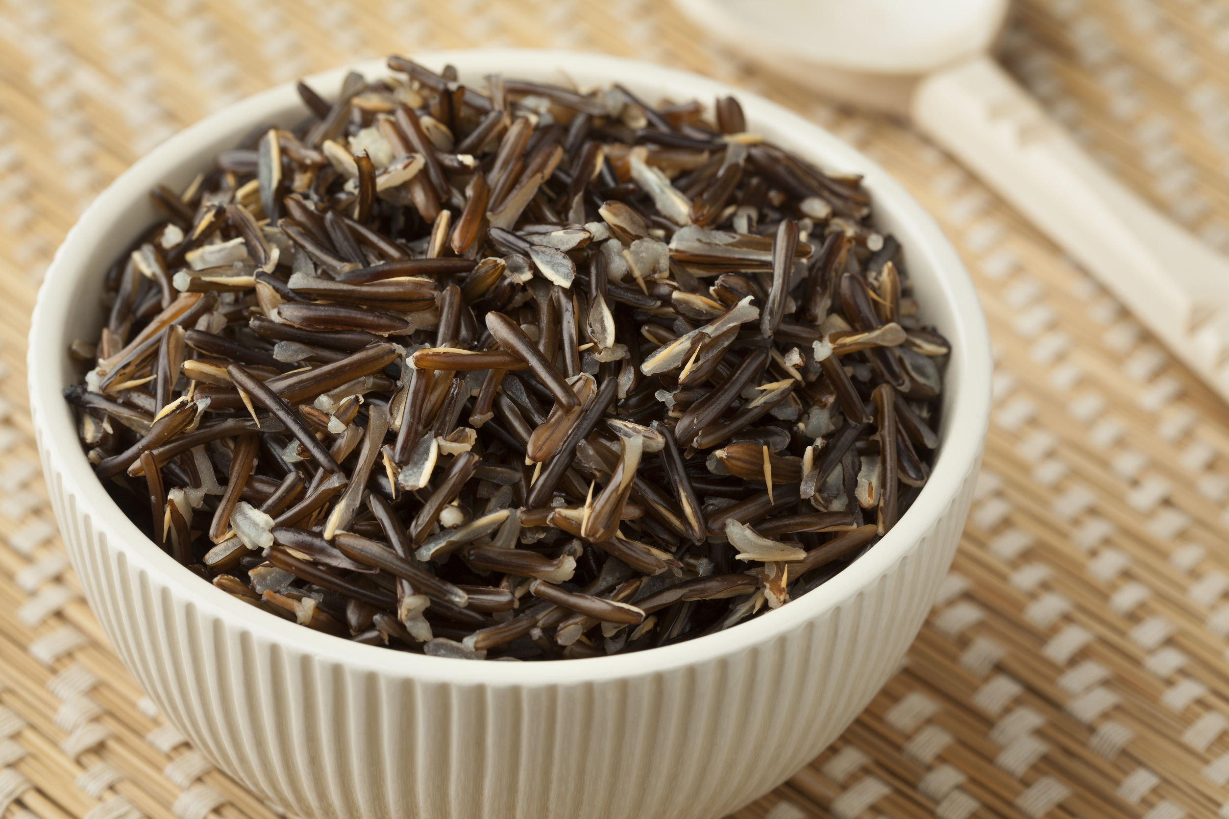 46608692 - bowl with cooked black wild rice