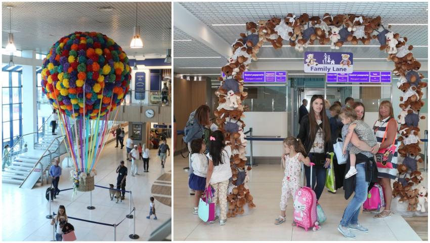 Foto: Familiile cu copii vor fi tratate prioritar la sosirea pe aeroport