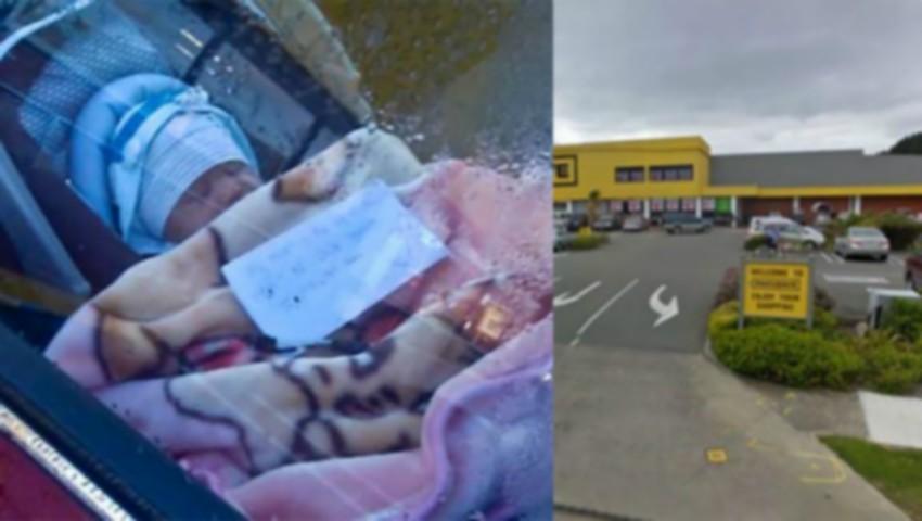 Foto: Gestul iresponsabil al unei mame! Și-a lăsat bebelușul în mașină și a pus un bilet lângă el