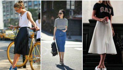 Cum poți purta fusta midi în această vară