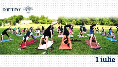 Dormeo te invită la un antrenament de yoga