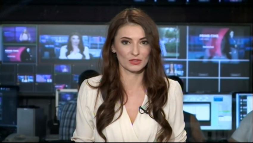 Foto: Primul buletin de știri prezentat de Angela Gonța la TV8