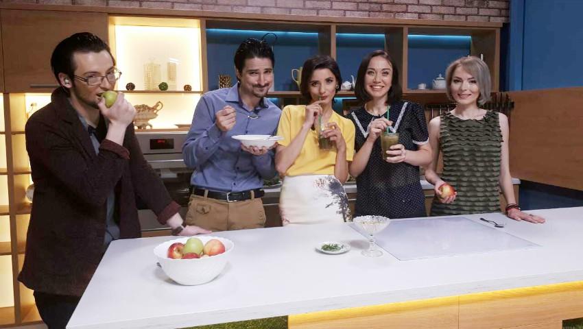 Foto: Galina Tomaș a gătit cu Matinalii de la TVR Moldova