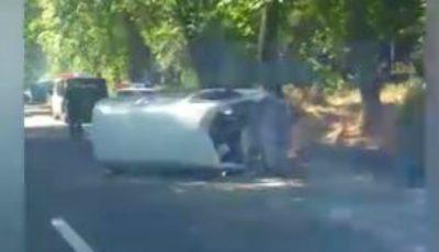 Accident cu implicarea unui microbuz în Capitală