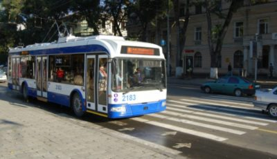 Chișinăuienii vor putea circula cu troleibuzul până la Aeroport