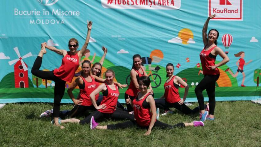 Weekend fierbinte pentru sute de chișinăuieni! S-au mișcat pe pași de dans împreună cu echipa UNICA Sport