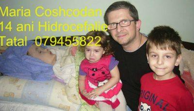 Familia Mariei Coșcodan, diagnosticată cu hidrocefalie, cere cu disperare ajutor!