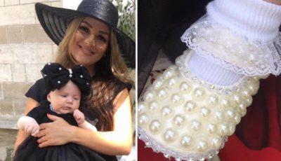Tatiana Vornicescu și-a încreștinat fetița!